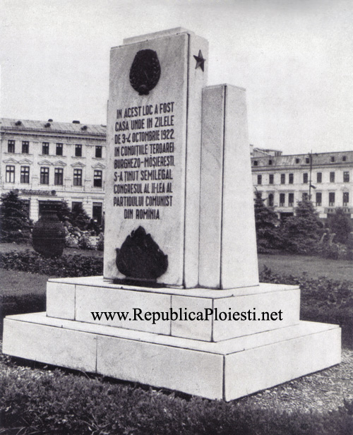 Monumentul Congresului PCR 1922 - 1956 copy