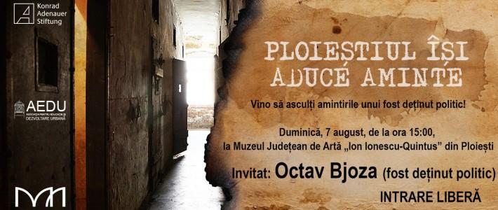 Conferință susținută de Octav Bjoza (fost deținut politic)